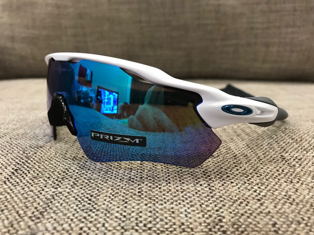 0552203aeb0d Oakley™️ RADAR EV Path (Polished White/Prizm Sapphire Iridium), Men's  Fashion, Accessories, Eyewear & Sunglasses on Carousell