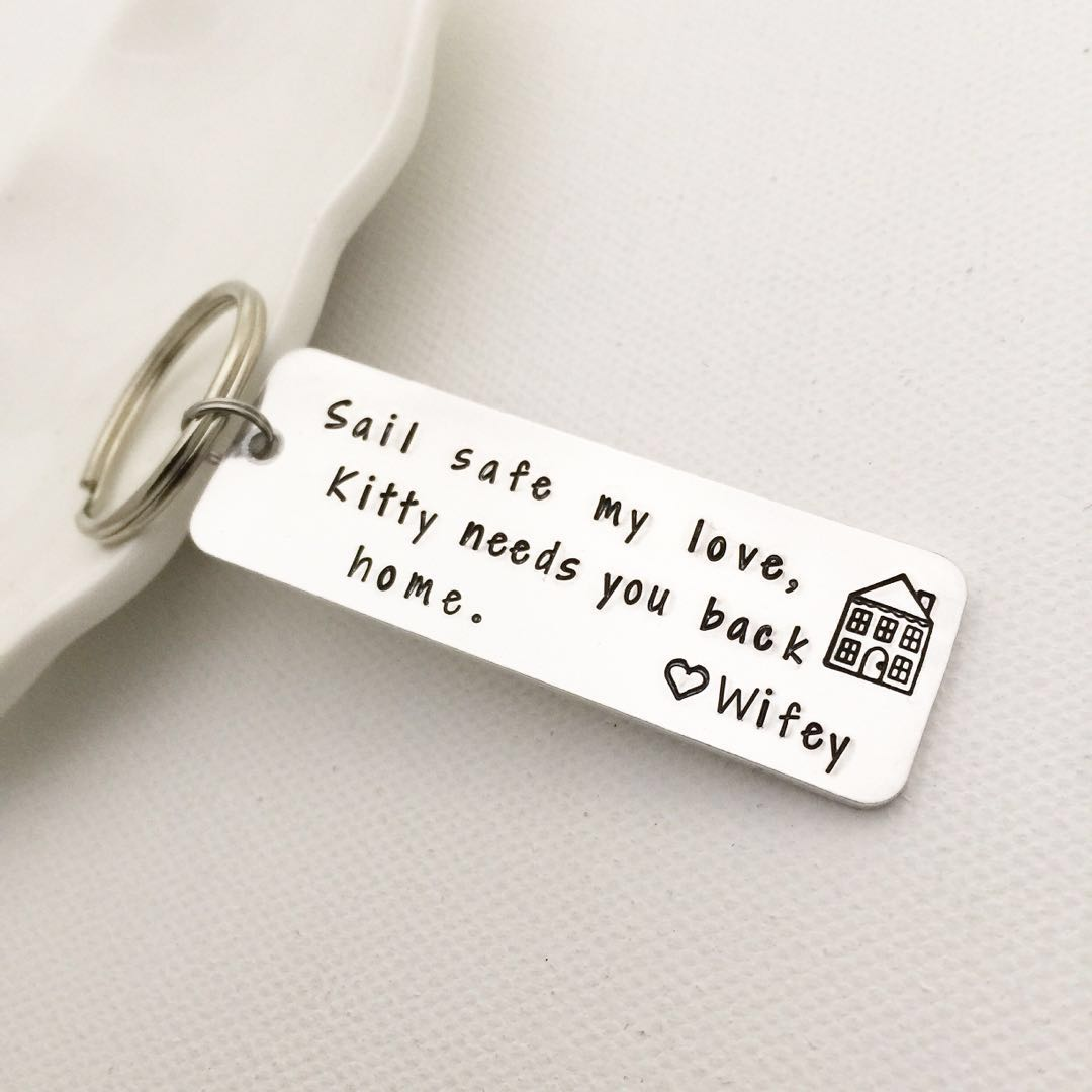 Personalised Keychain Handstamped Special Gift