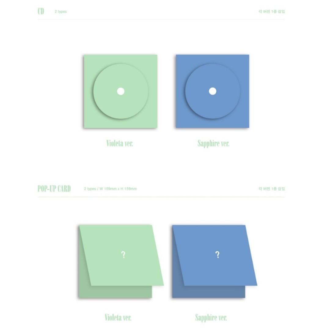 [Pre-order] IZ*ONE 아이즈원 (2ND MINI ALBUM 미니앨범) - HEART*IZ (VIOLETA ver. || SAPPHIRE ver.)