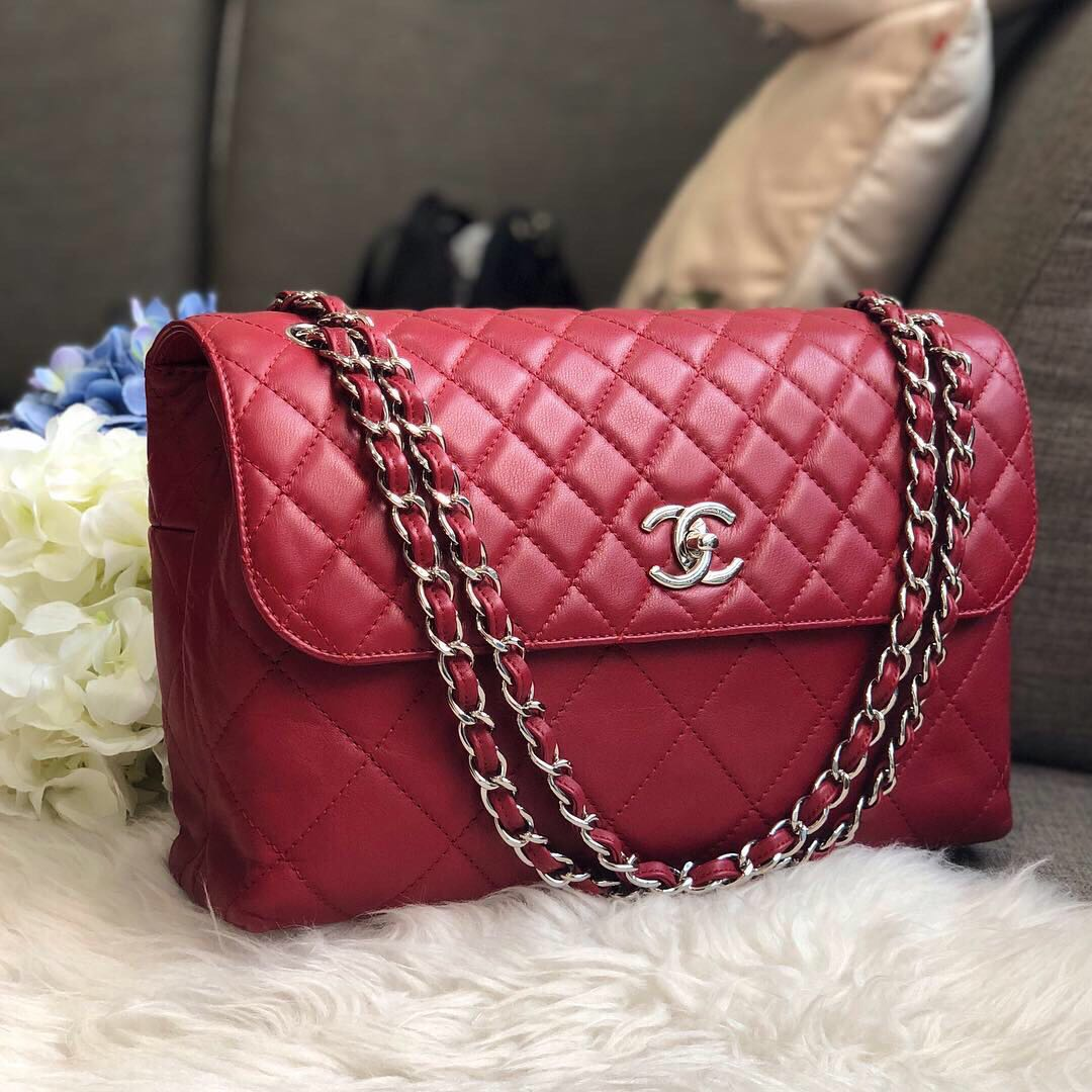 7bd94aa649da ❌SOLD!❌ Good Deal!❤ ❤ Chanel Jumbo In the Business Flap in ...