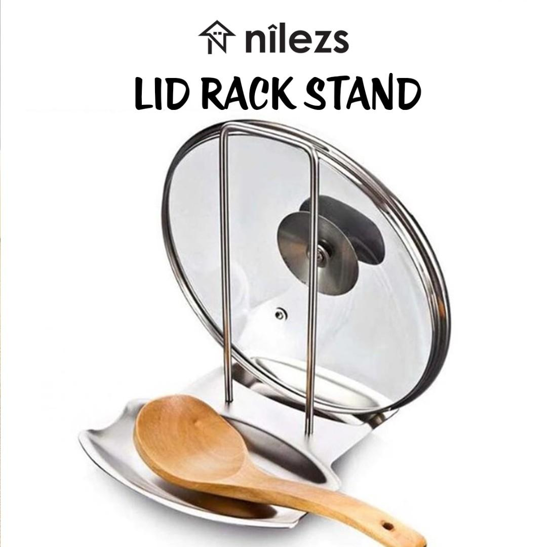 Stainless Steel Pan Pot Rack Cover Lid