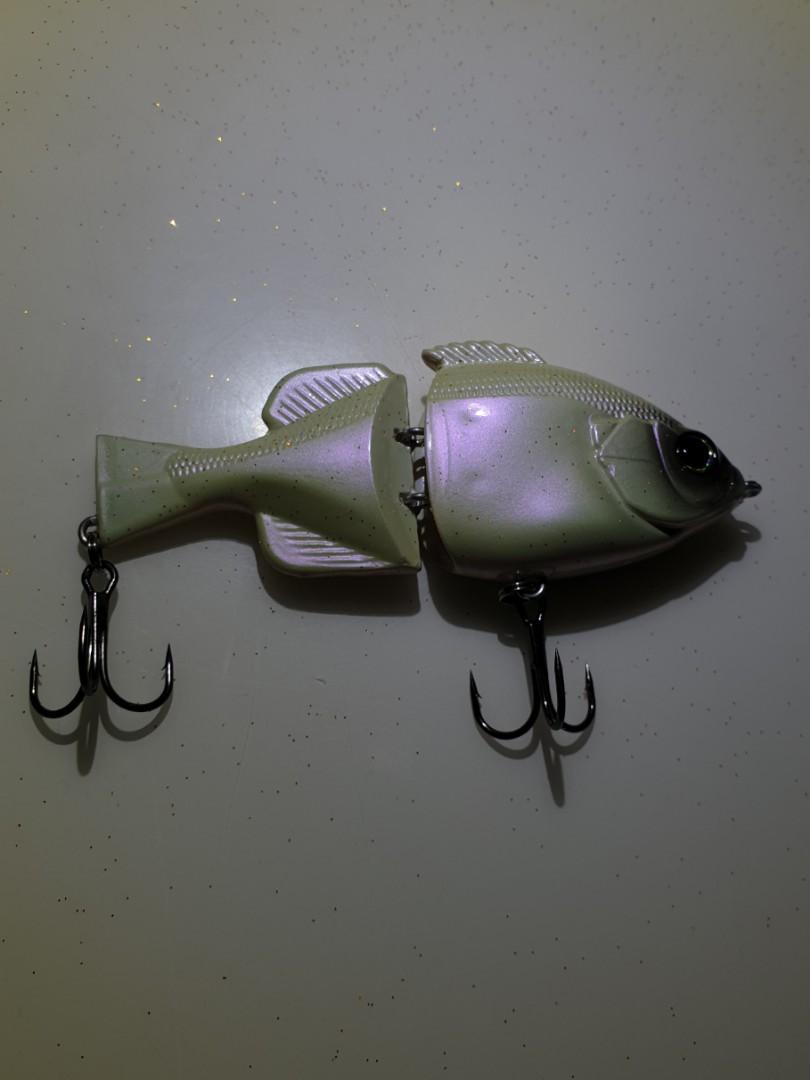 SwimBait fishing lure (Pearl)