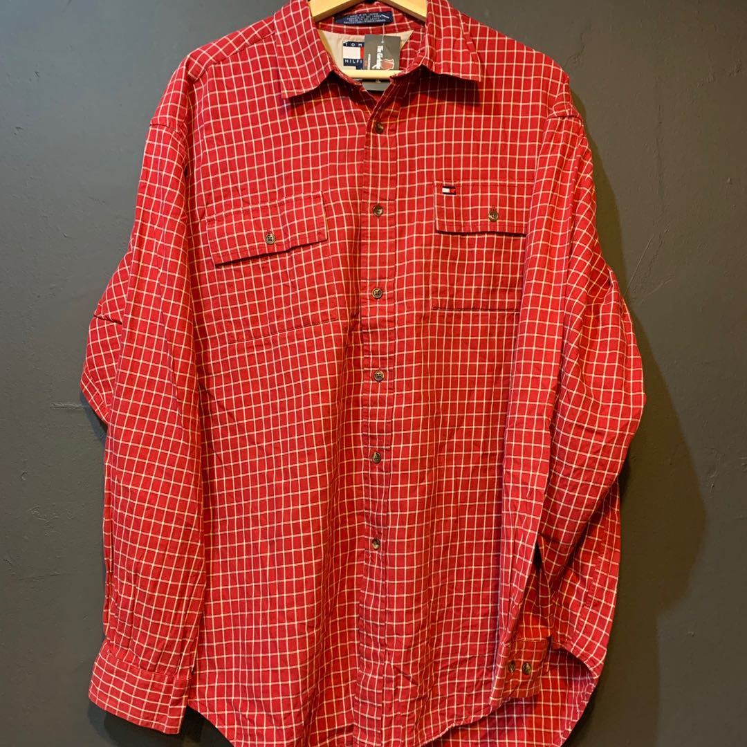 4c6c87a8 Tommy Hilfiger Checkered Shirt, Men's Fashion, Clothes, Tops on ...