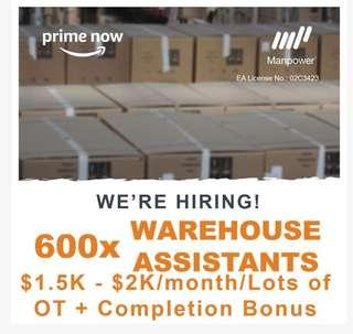 600x Warehouse Assistant