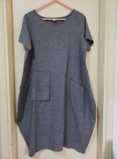 深灰色燈籠裙