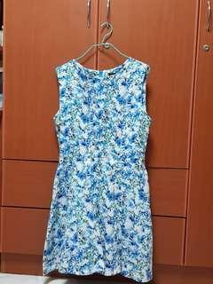 Eternity Loft blue floral dress