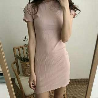 Woman's Vintage Fashion Round Neck Simple Short Dress