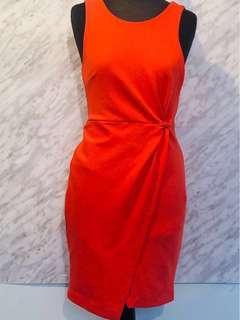 Banana Republic Side Knot Orange Dress- Size 0P
