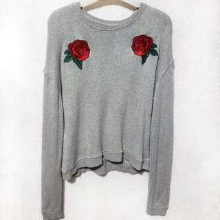 Bershka embroided pullover