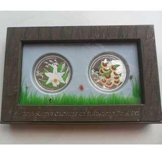 2013 Native Orchids of Singapore $5 999 fine silver Proof coin set