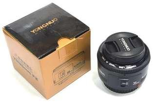 Yongnuo 35mm lens f/2 for canon
