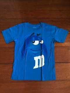 AUTHENTIC blue m&m shirt