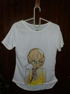 Kaos Cute Kitty Lady Gadis Kucing