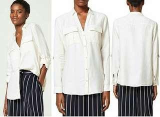 Esprit white linen blouse