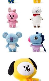 (sale🔥) bt21 official standing dolls