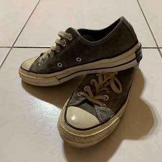 Converse1970灰色麂皮帆布鞋