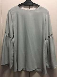 Blouse with beads