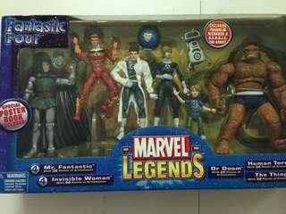 Toy Biz Marvel Legends Fantastic Four Box Set MISB