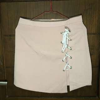 Baby Pink Mini Skirt