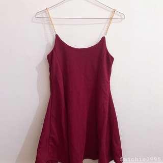 Short Maroon Dress
