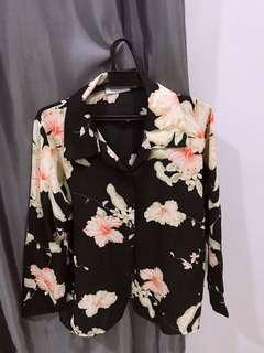 Floral tops in black and white