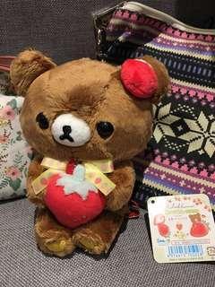 現貨 鬆弛熊Rilakkuma 茶小熊Chairoikoguma茶色小熊 草莓 士多啤梨系列毛公仔