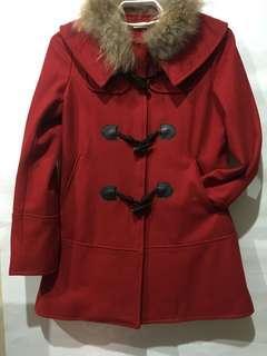 🚚 紅色毛呢外套