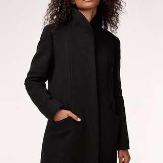 ARITZIA WILFRED BLACK COCOON COAT