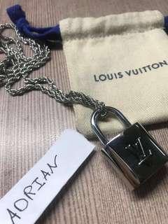 Lv padlock necklace