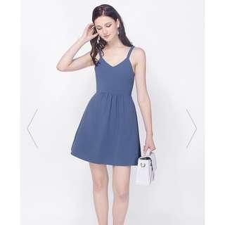 Fayth Pansy Pocket Dress Ash Blue