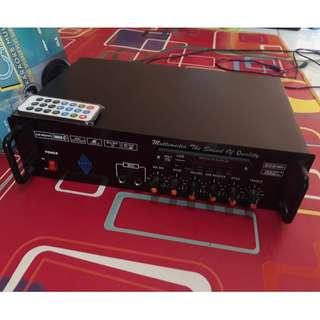 Paket Power Amplifier Ranic 1600 WATT PMPO + MP3 + Bluetooth