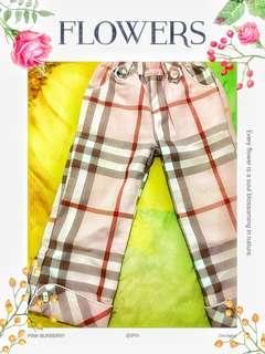 Pink Burberry Pants #celanaanak#celanapanjanganak#celanapanjang#burberry#kotak#ibuhebat