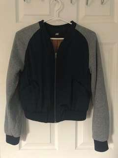 Cropped lightweight bomber jacket - small small