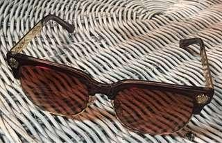 Brown & gold womens sunglasses