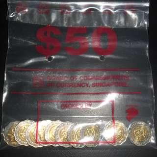 1995 Singapore 50th Anniversary of United Nations $5 Commemorative Coin