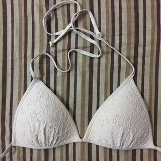 H&M White String Bikini Top Swimwear