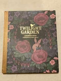 Twilight Garden Colouring book // adult color book