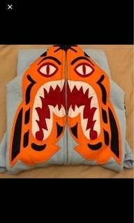 🚚 Bape tiger Shark Hoodie