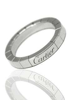 AUTHENTIC CARTIER 18K WHITE GOLD LANIERES RING SIZE 59 / SIZE 9