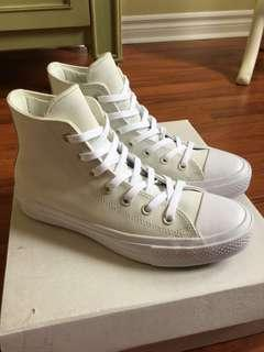 NEW converse chuck taylor all star II off white/cream high tops