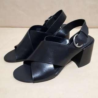 Marc Fisher Hocie Leather Slingback Block Heels Size 8.5US