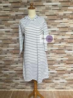Stripe Godiva Hoodie Salur Dress - New