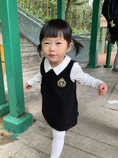 學院風連身裙恤衫兩件套 (幼稚園面試必備)