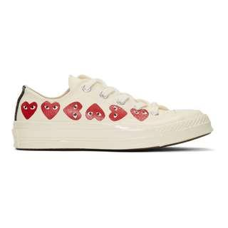 Comme Des Garçons Play Multi Heart Converse Chuck Taylor All Star 70 Low