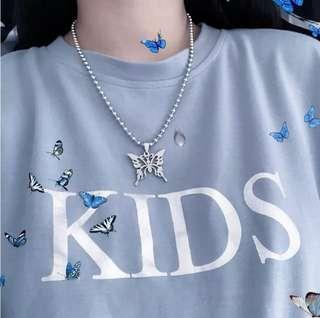 🚚 (po) butterfly balled chain necklace