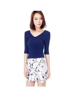 Premium TCL Kaylene Asymmetrical Printed Skirt