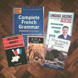 Book set for learning French + Free SF