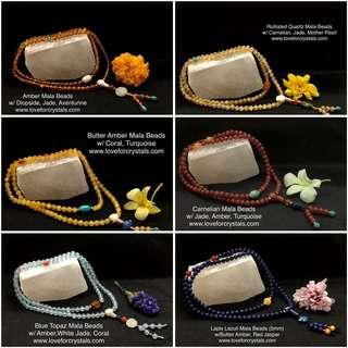 108 Prayer Beads - Crystal Mala