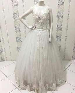 White Lace Wedding Dress for Sale