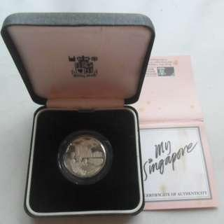 My Singapore Silver Piedfort Proof Medal